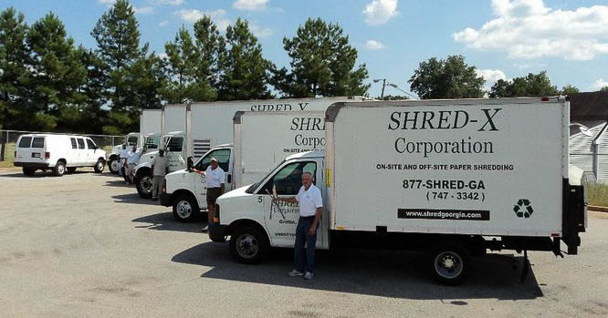Professional Shredding Staff & Commercial Trucks